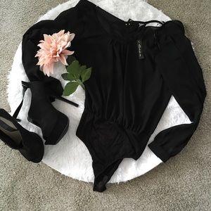 Black sheer Body suit